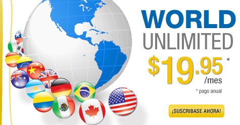 World Unlimited - $19.95/mes